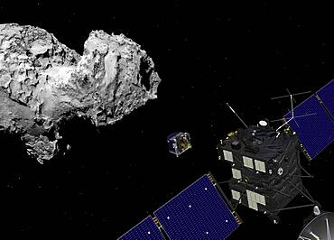 Rosetta Orbiter Deploys Lander to Comet 67P/C-G