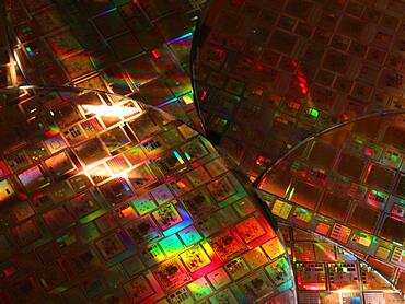 Silicon Wafers with Integrated Circuits