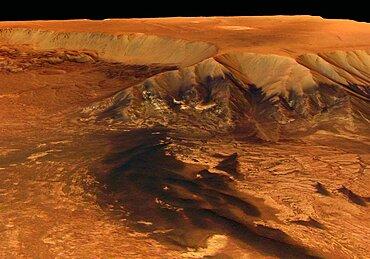 Mars, Valles Marineris Canyon, Melas Chasma