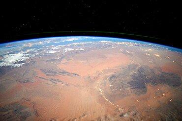 Sahara Desert at Night, ISS View
