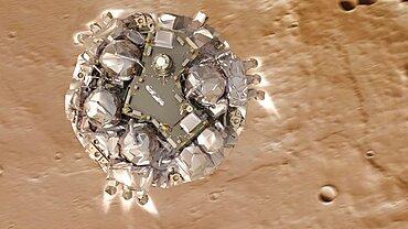 Schiaparelli Entry Module Approaches Mars