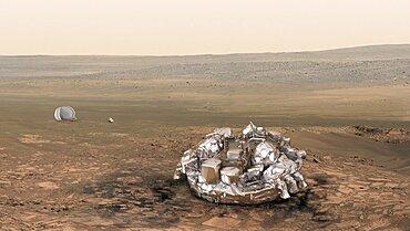 Schiaparelli Module On Mars