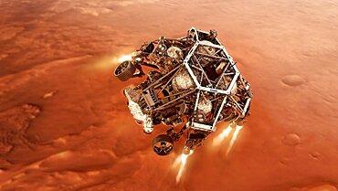 Perseverance Rover Descends To Mars
