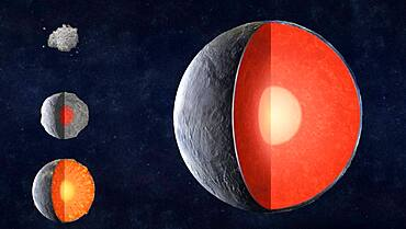 Formation of Rocky Planets, Illustration
