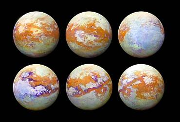Titan, Moon of Saturn, Infrared Views
