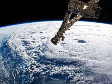ISS and the Eye of Typhoon Neoguri