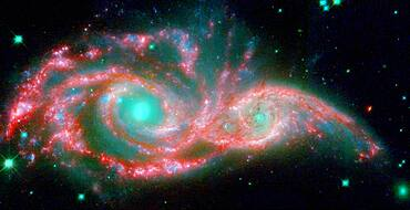 NGC 2207 and IC 2163, Merging Galaxies