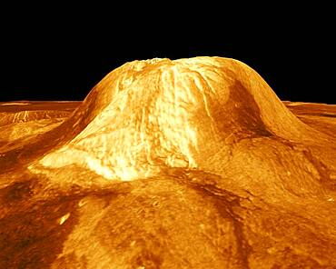 Venus, Three Dimensional Perspective of Gula Mons