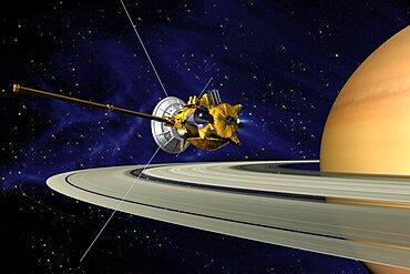 Cassini's Saturn Orbit Insertion Maneuver