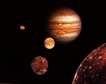 Jupiter Mosaic with Galilean Moons