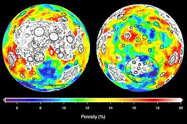 Lunar Highland Crust Porosity, GRAIL