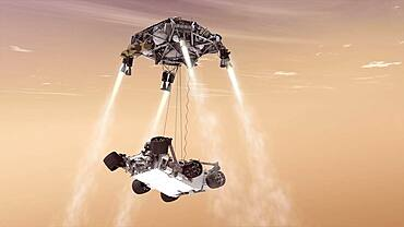 Guided Landing for Mars Rovers