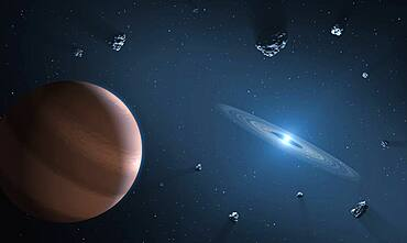 Exoplanet and White Dwarf