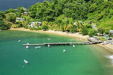 Parlatuvier Bay on north coast of Tobago island, Trinidad & Tobago.