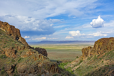 Pike Creek Trail on Steens Mountain looking east over the Alvord Desert in eastern Oregon.