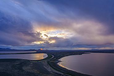 Warner Wetlands from Warner Valley Overlook at Hart Mountain National Antelope Refuge, eastern Oregon.