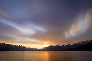 Sunrise at Bobby Lake, Cascade Mountains, Oregon.