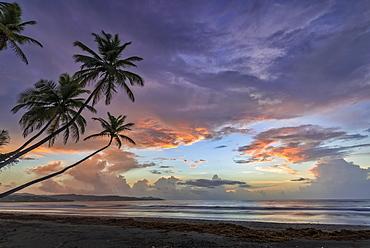 Sunrise at Magdalena Grand Beach Resort on Tobago Island, Trinidad and Tobago.