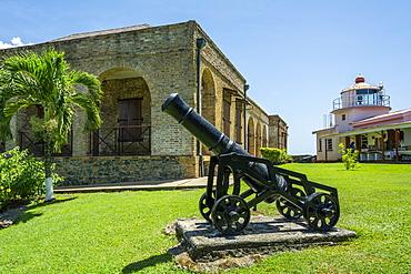 Historic Fort King George on Tobago island, Trinidad and Tobago.