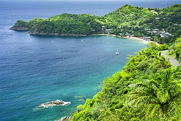 Castara Bay on the north coast of Tobago island, Trinidad and Tobago.
