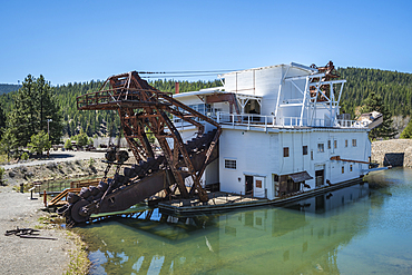 Sumpter Valley Dredge State Heritage Area in the town of Sumpter, eastern Oregon.