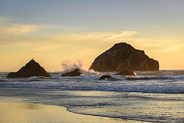 Face Rock at Bandon Beach on the southern Oregon coast.