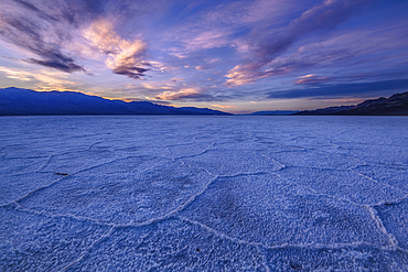 Salt formations at Badwater, Death Valley National Park, California.