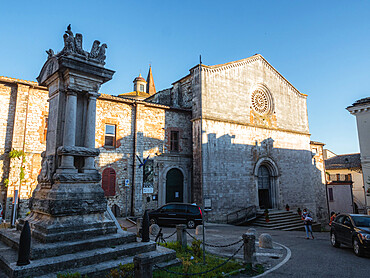 Piazza Vera in Amelia with St. Francesco in Assisi's Church, Umbria