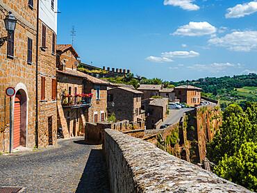 The bounaries of the old town and its ancient walls. Orvieto, Umbria, Italy