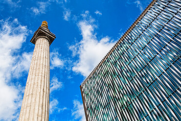 The Monument to the Great Fire of London and The Monument Building, City of London, London, England