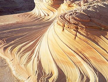 Rock formation known as Swirls, on Colorado Plateau, Arizona, United States of America (U.S.A.), North America