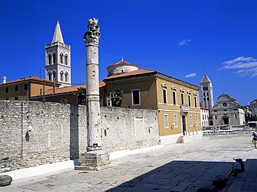 View of square, Zadar, Zadar region, Croatia, Europe