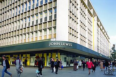 Exterior of John Lewis department store, Oxford Street, London, England, United Kingdom, Europe
