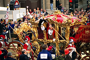 The Lord Mayor's coach, Lord Mayor's Show, City of London, London, England, United Kingdom, Europe