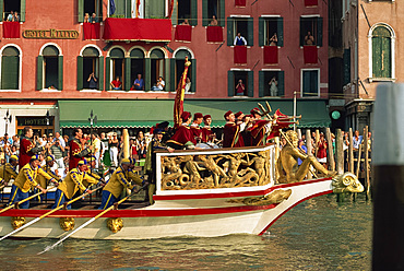 Regatta Storica, Venice, UNESCO World Heritage Site, Veneto, Italy, Europe