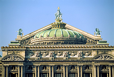 Facade of L'Opera de Paris, Paris, France, Europe