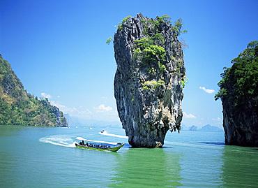 Ko Tapu (James Bond Island), Phangnga Bay, Thailand, Southeast Asia, Asia