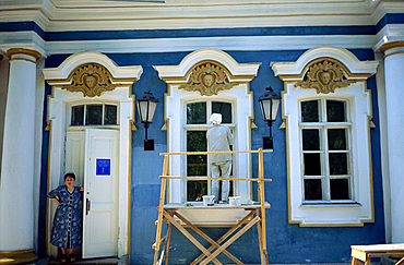 Working on renovations at the Catherine Palace in Pushkin, Russia, Europe