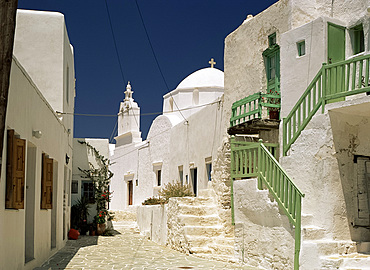 The Kastro, Folegandros, Cyclades, Greek Islands, Greece, Europe