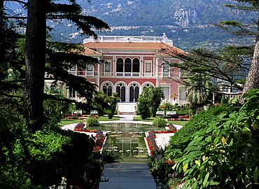 Musee Ephrussi de Rothschild, Cap Ferrat, Cote d'Azur, Provence, France, Europe