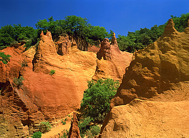 Ochre Cliffs, Rustrel, Vaucluse, France, Europe