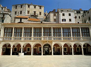 The Loggia and Republic Square, Sibenik, Croatia, Europe