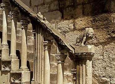Venetian style stone stairway, Sibenik, Croatia, Europe