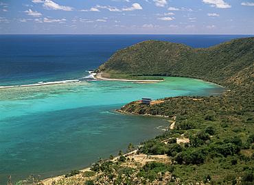 Aerial view of North Sound, Virgin Gorda, British Virgin Islands, West Indies, Central America