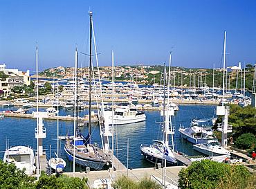 The marina in Porto Cervo, Costa Smeralda, island of Sardinia, Italy, Mediterranean, Europe