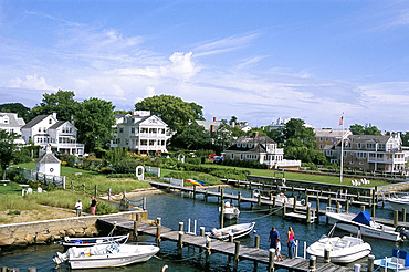The harbour in Edgartown, Martha's Vineyard, Massachusetts, New England, United States of America, North America