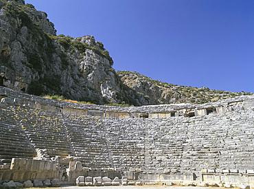 Ancient Lycian amphitheatre, Myra, Anatolia, Turkey, Asia Minor, Asia