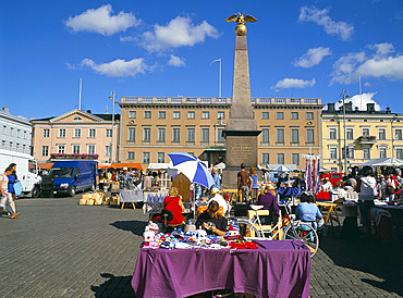 Open air market in the port area, Helsinki, Finland, Scandinavia, Europe