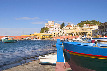The harbour on the island of Ponza, Italy, Mediterranean, Europe