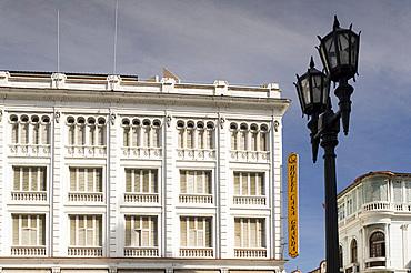 The Casa Granda Hotel facing onto Parque Cespedes, Santiago de Cuba, Cuba, West Indies, Central America